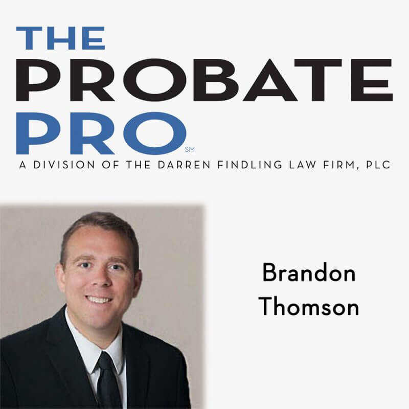 brandon thomson the probate pro law office lawyer firm attorney michigan ohio elder law medicaid planning veterans benefits