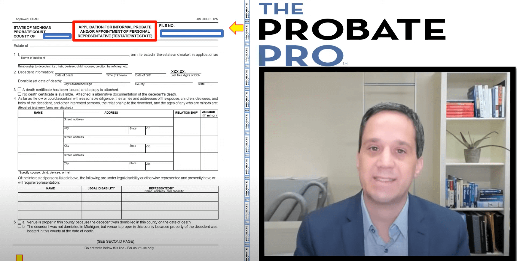Application for Informal Probate and Appointment of Personal Representative
