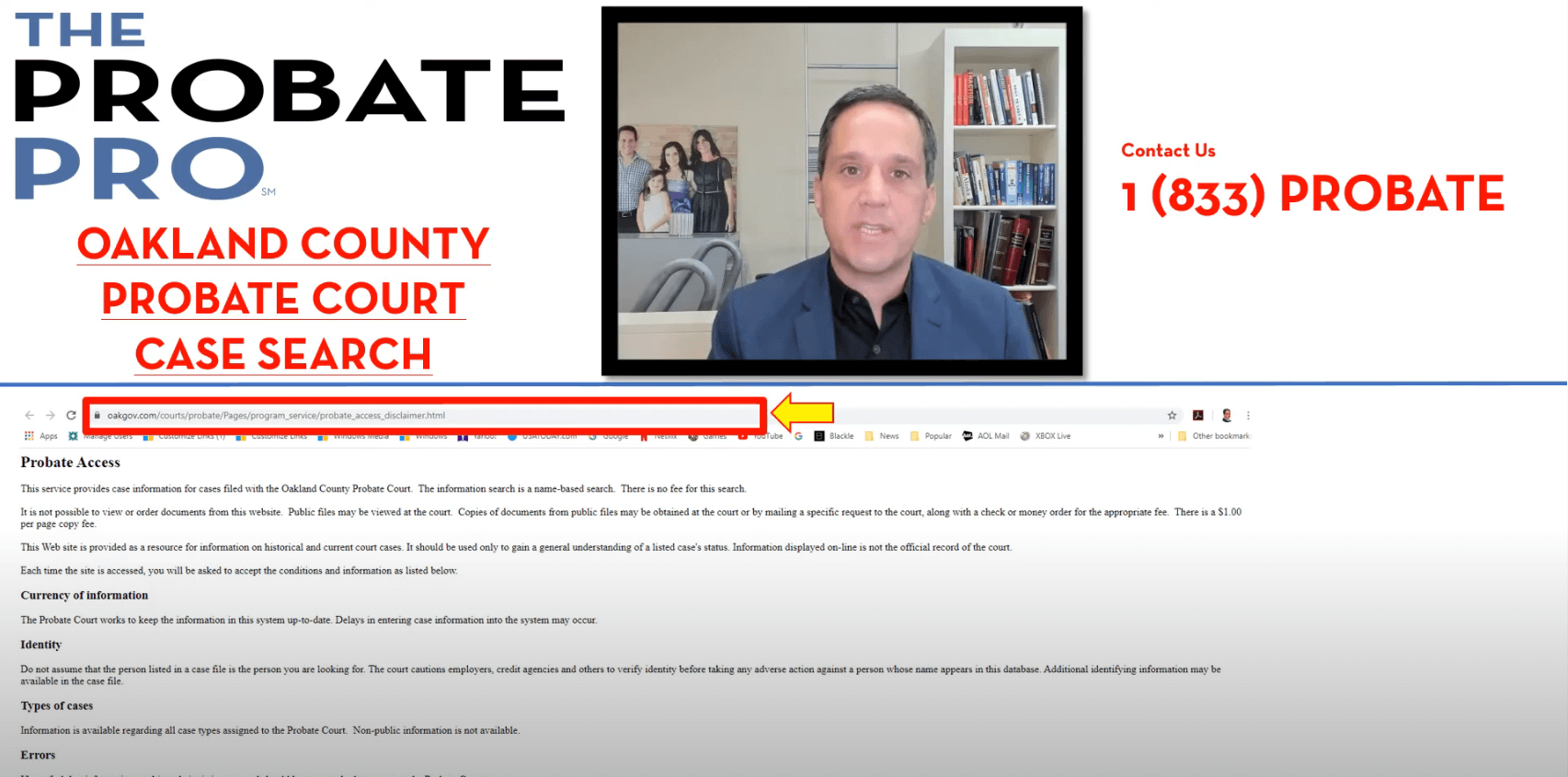 Oakland County Probate Court Case Search