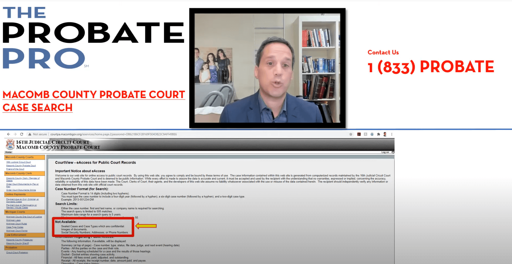 Macomb County Probate Court Case Search